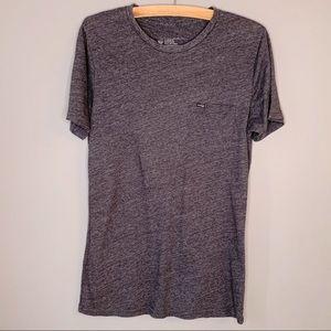 Hurley mens premier cut basic gray tshirt M